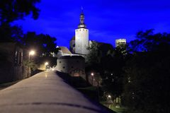 Querfurt At Night Royalty Free Stock Image