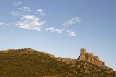 Queribus castle skyline Royalty Free Stock Image