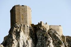 Queribus Catharslott - Frankrike royaltyfria bilder