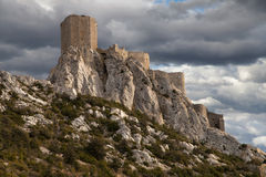 Queribus, the Last Cathar Stronghold Royalty Free Stock Photos