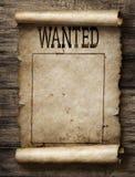 Querido para o cartaz da recompensa Imagem de Stock