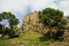 Querigut slott i Pyrenees royaltyfria bilder