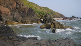 Querim beach, Goa. Goa& x27;s deepest and rocky beach Stock Image