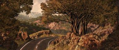 Querland-Reise Stockbild