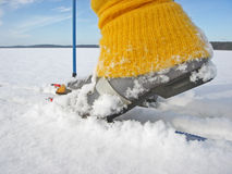 Querland-Skifahren Stockfotografie