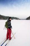 Querland-Skifahren Stockbild