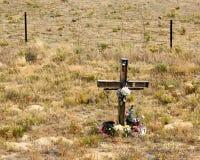 Quermarkierung auf Feld in Colorado Lizenzfreie Stockfotografie