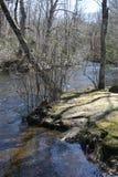 Querneigung des Flusses Stockbilder