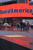 Querneigung im Times Square Lizenzfreies Stockfoto
