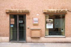 Querneigung in Italien Stockfotografie