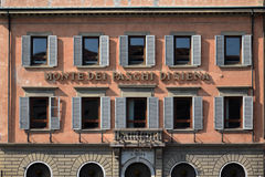 Querneigung Monte dei Paschi Di Siena Lizenzfreie Stockfotos