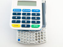 Querneigung-Sicherheitpin-Code-Vorsichtsmaßnahme mit PDA Lizenzfreies Stockfoto