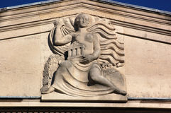 Querneigung-Skulptur Stockfotografie