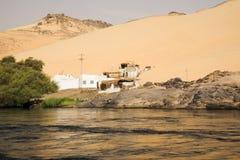 Querneigung von Nil, Ägypten lizenzfreies stockfoto