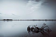 Querneigung von Volga-Fluss Lizenzfreies Stockbild