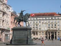 Querneigung von Zagreb stockfoto