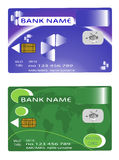 Querneigunggeldkarte mit zwei Auslegungen Lizenzfreies Stockbild