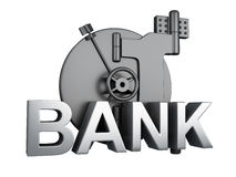 Querneigungwölbung geschlossen Bank-Safe, Sicherheitskonzept Lizenzfreies Stockbild
