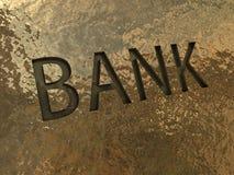 Querneigungzeichen auf einer goldenen Platte Lizenzfreies Stockfoto