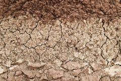 Querschnitt der Boden- und Lehmschichtbeschaffenheit Lizenzfreie Stockbilder