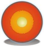 Querschnitt des Erde-Kernes stock abbildung