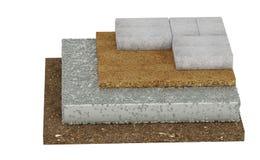 Fußboden Querschnitt ~ Querschnitt des verschlusses pflasternd boden beton sand