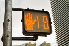 Quersignal zeigt 18, Las Vegas Boulevard Stockbild