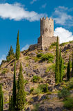Quertinheux tower at Lastours Royalty Free Stock Photos