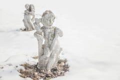 Querubins da neve Foto de Stock Royalty Free