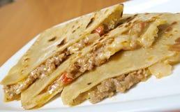 Quesadilla с мясом цыпленка, Стоковые Изображения RF
