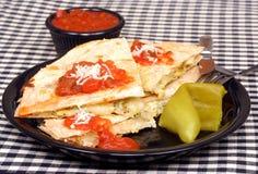 quesadilla цыпленка сыра Стоковое фото RF