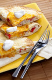 Quesadilla. With surimi still life stock image