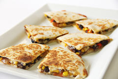 Quesadilla appetizer cut Royalty Free Stock Image