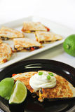 Quesadilla appetizer healthy vertical Royalty Free Stock Image