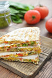 Quesadilla with chicken Stock Photography