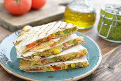 Quesadilla with chicken Royalty Free Stock Photos
