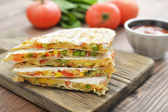 Quesadilla with chicken Royalty Free Stock Image