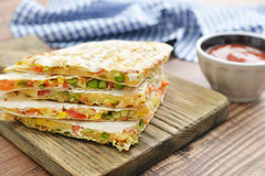 Quesadilla with chicken Stock Images