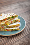 Quesadilla with chicken Royalty Free Stock Photo