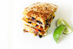 Quesadilla copyspace left Royalty Free Stock Photography