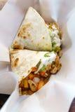 Quesadilla del pollo de la comida de Maxican Fotos de archivo