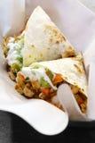 Quesadilla del pollo de la comida de Maxican Imagen de archivo libre de regalías