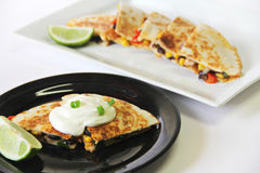 Quesadilla healthy appetizer Stock Photography