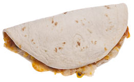 Quesadilla Isolated on White Stock Photos