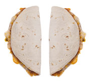 Quesadilla Isolated on White Royalty Free Stock Photos