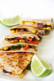 Quesadilla in a line vertical Royalty Free Stock Image