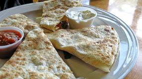 Quesadilla for Lunch royalty free stock photo