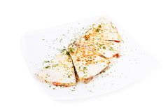 Quesadilla met vlees en groenten Royalty-vrije Stock Foto