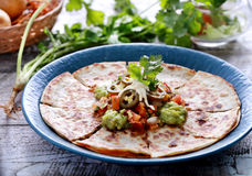 Quesadilla mexicano da culinária fotografia de stock royalty free