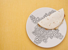 Quesadilla on a Plate Royalty Free Stock Images